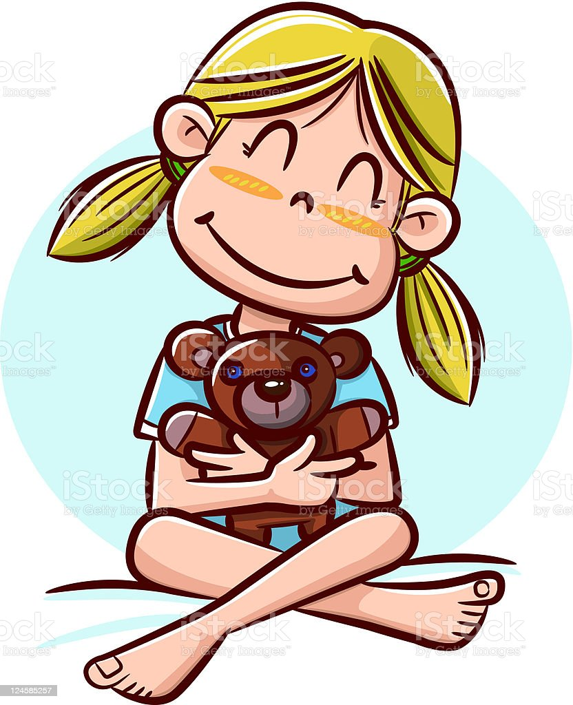 royalty free kid hugging teddy bear clip art vector images rh istockphoto com hugging clipart free hugging clipart gif