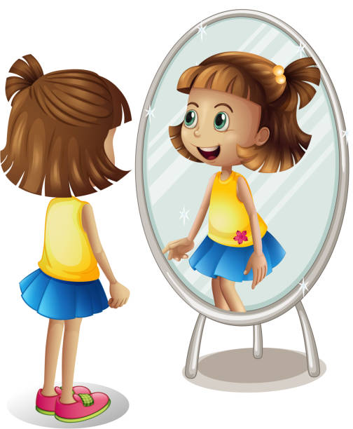 Best Child Looking In Mirror Illustrations Royalty Free Vector