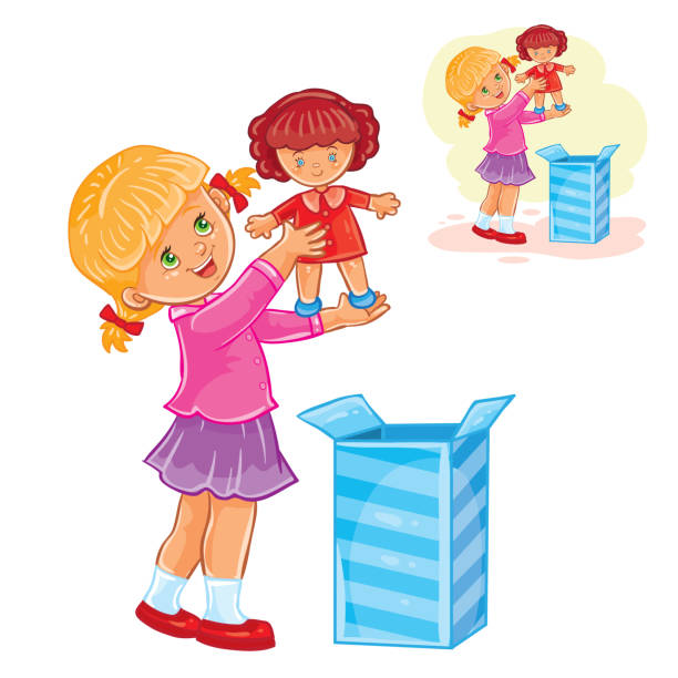 Best Kids Opening Presents Illustrations, Royalty-Free ...