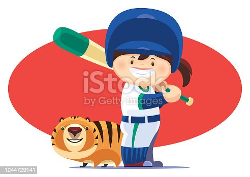 istock little girl playing baseball with cat 1244729141