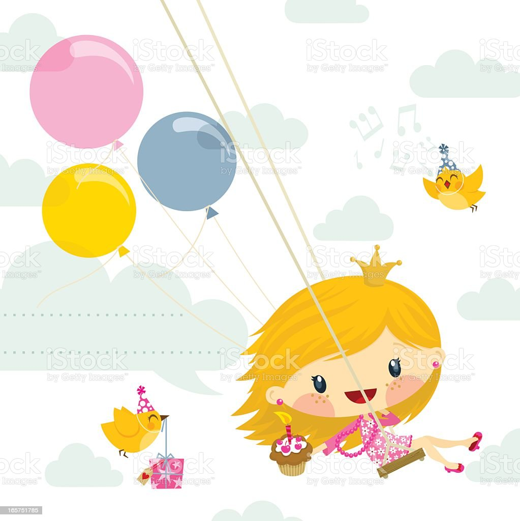 Little girl princess birthday party invitation illustration cute little girl princess birthday party invitation illustration cute royalty free little girl princess birthday party stopboris Choice Image