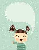Little Girl saying Hi