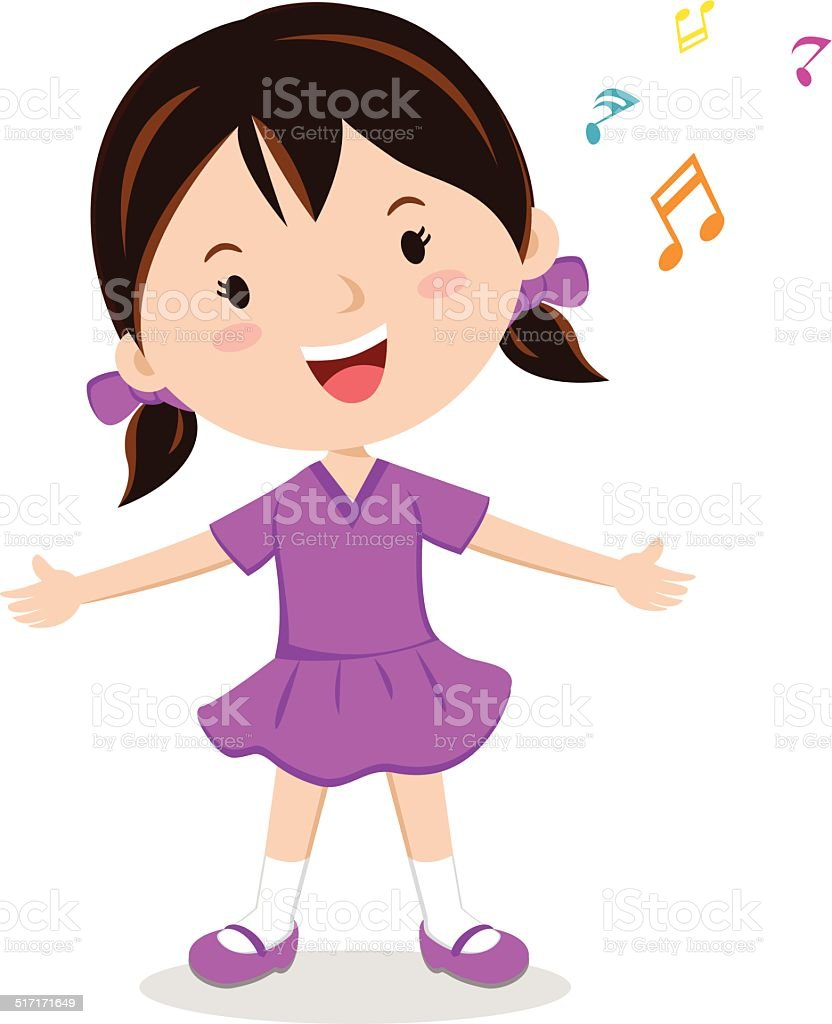 royalty free children singing clip art vector images rh istockphoto com song clipart sign clipart
