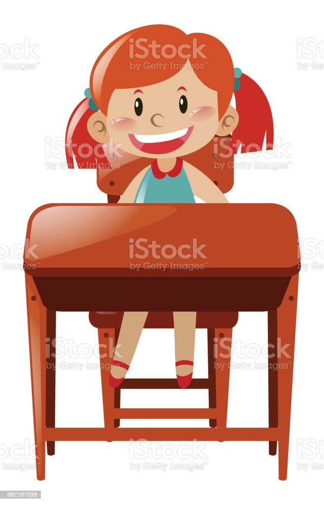royalty free student sitting at desk clipart pictures clip art rh istockphoto com Sit at Desk Clip Art Discovery Girl Sleeping at Desk Clip Art