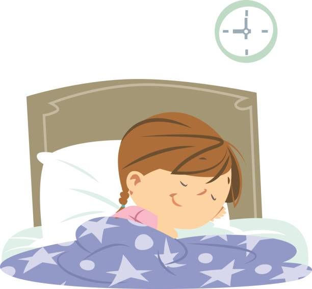 Royalty Free Sleeping Girl Clip Art, Vector Images ...