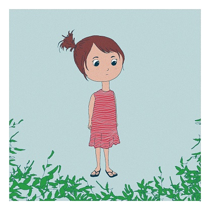 Little Girl Staring