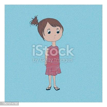 istock Little Girl Staring 1307014792