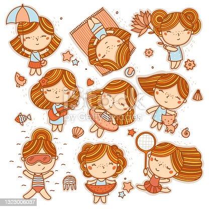 istock Little girl summer activities 1323006037