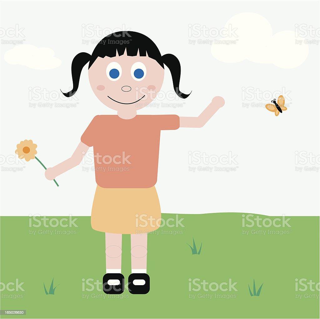 Little Girl royalty-free stock vector art