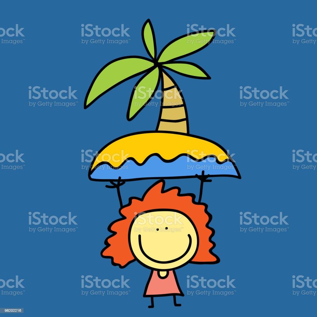 Bambina bambina - immagini vettoriali stock e altre immagini di albero royalty-free
