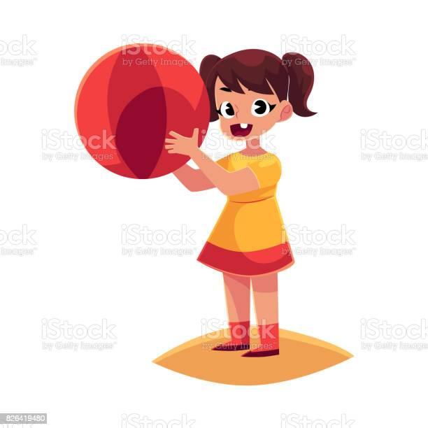 Little girl with inflatable ball standing on beach summer vacation vector id826419480?b=1&k=6&m=826419480&s=612x612&h=zflkllvkzn4p4u816mn58nuffmdkndb1kfp0fquehrk=
