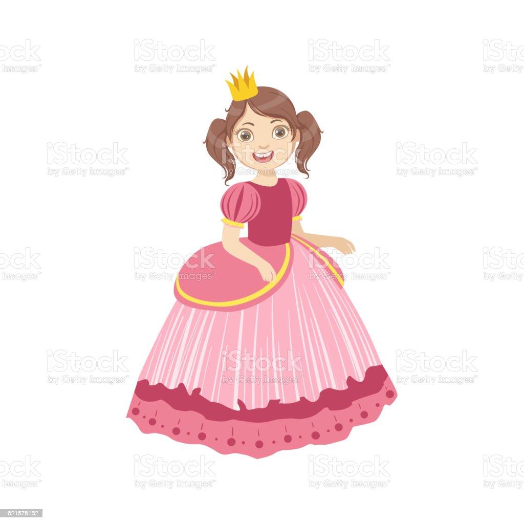 Little Girl With Ponytails Dressed As Fairy Tale Princess little girl with ponytails dressed as fairy tale princess – cliparts vectoriels et plus d'images de arts culture et spectacles libre de droits