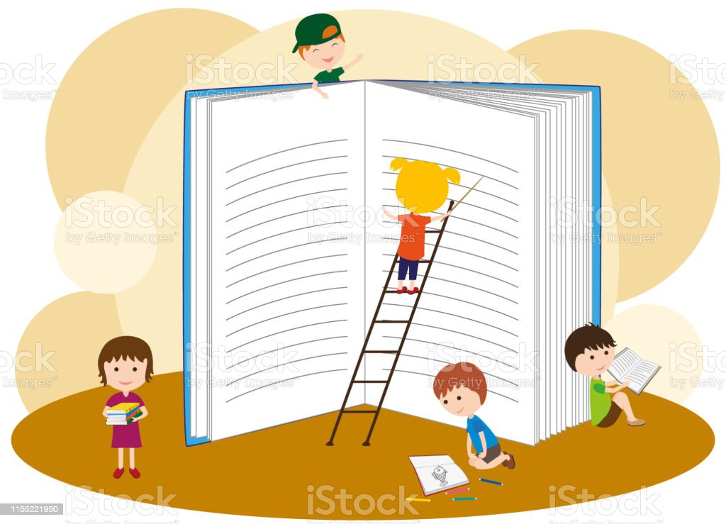 Little Girls And Boys Read Books Children Are Preparing For