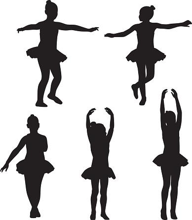 Little Girls Ballet Silhouettes