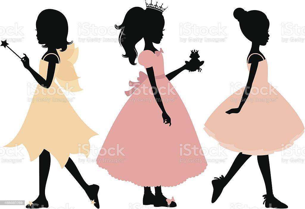 Little Girl's Costumes royalty-free stock vector art