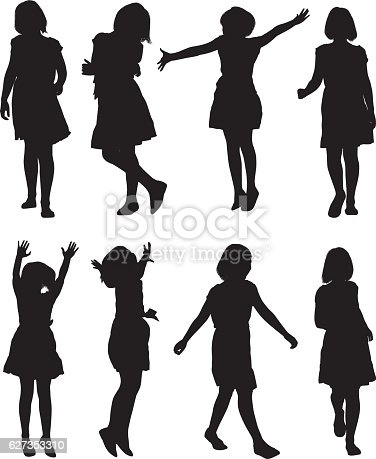 istock Little girls in various action 627353310