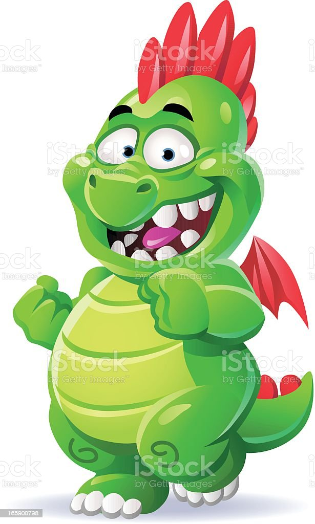 Little Green Dragon royalty-free little green dragon stock vector art & more images of animal