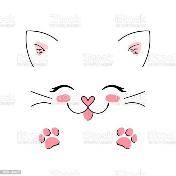 Little happy cat adorable cute kitten simple vector illustration can vector id1054944482?b=1&k=6&m=1054944482&s=612x612&h=09s00lfa2fl rmlixf0dhhhtim3rgskl7vkjtnxtcuu=
