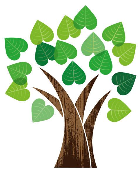 Little heart tree illustration vector art illustration