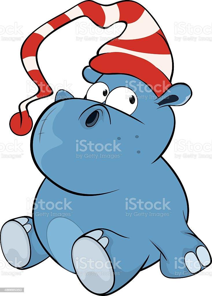 Petit hippopotame. Dessin animé - Illustration vectorielle