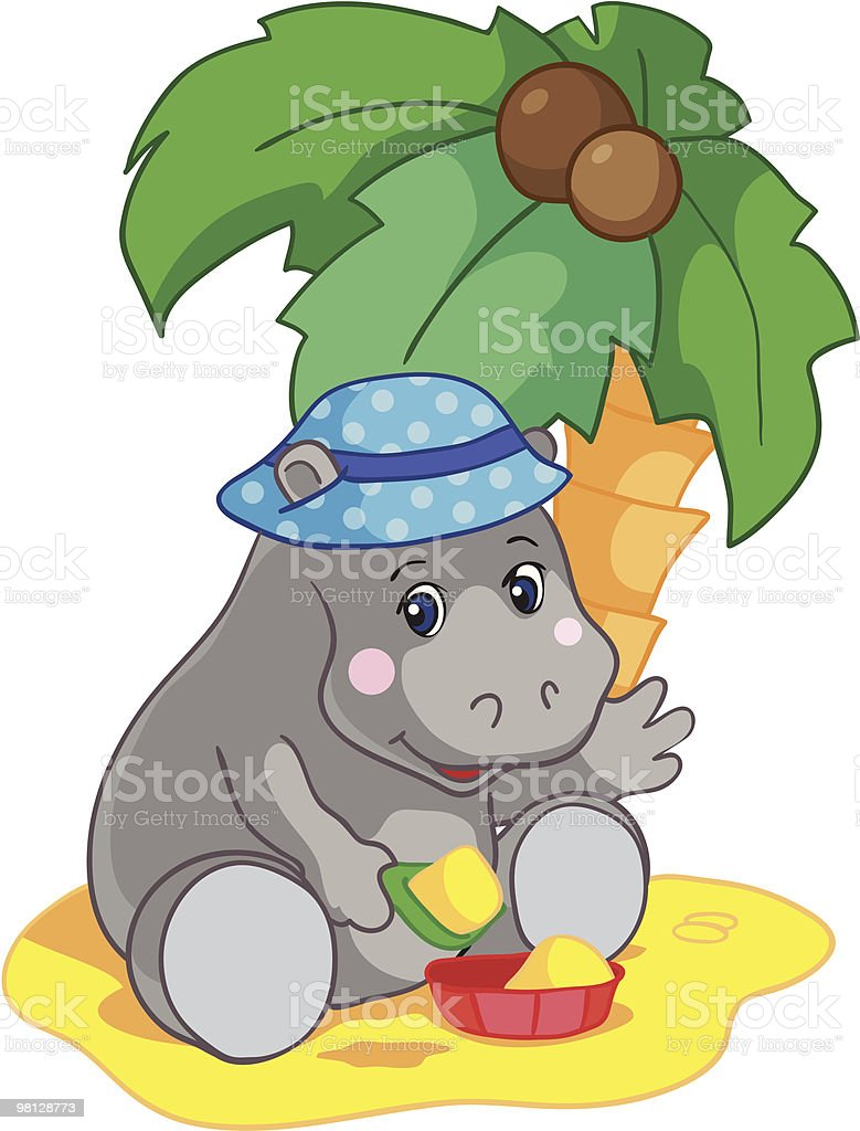 Little hippopotamus royalty-free little hippopotamus stock vector art & more images of animal