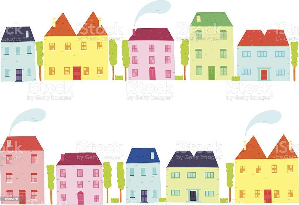 Little Houses vector art illustration