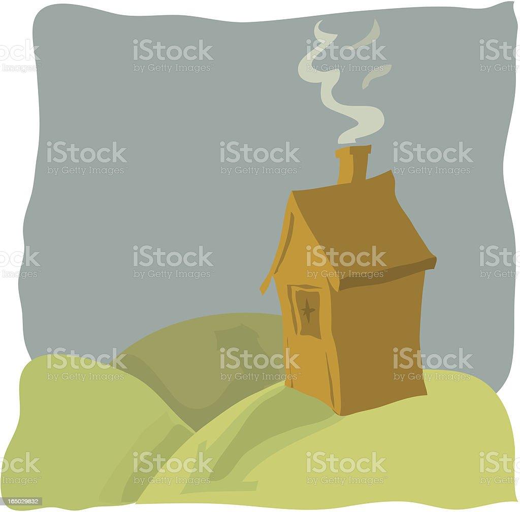 Little Hut royalty-free stock vector art