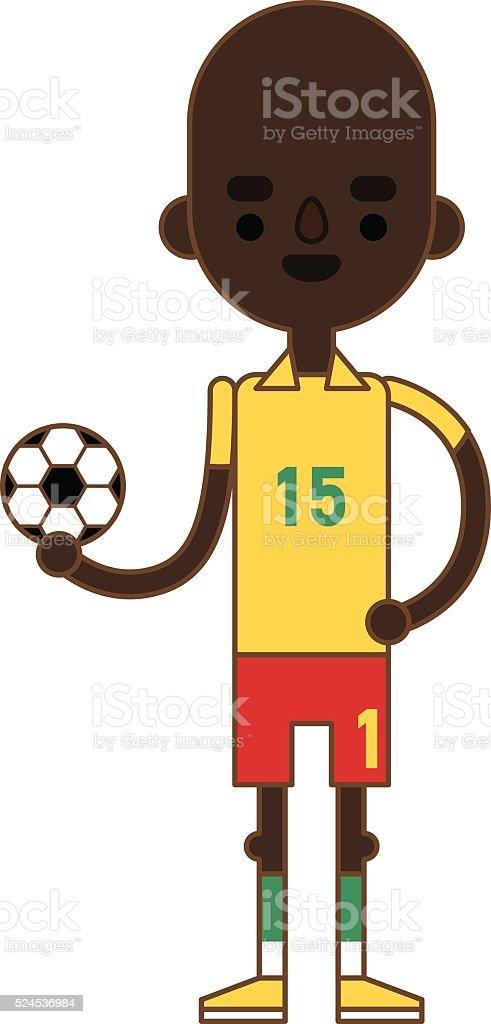d505b9216b Pequena criança Menino a brincar com bola de futebol de futebol de Equipamento  Desportivo divertido pequena
