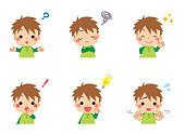 istock Little Kid thinking about Question 1311004047