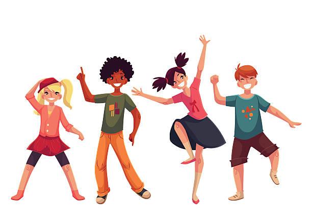 Best Kid Dancing Illustrations, Royalty-Free Vector ...