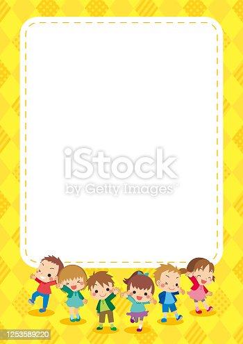 istock Little Kids in Autumn 1253589220