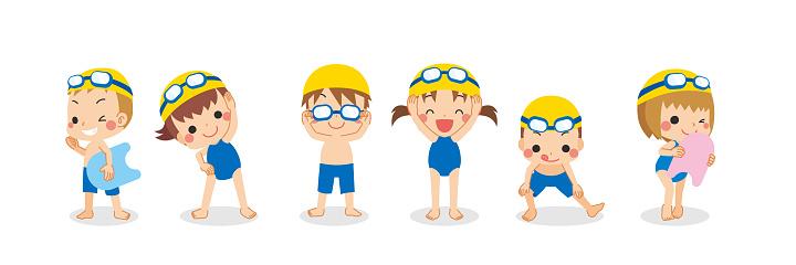 Little Kids in Competition Swimwear