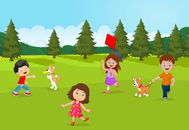 Top 60 Toddlers Playing Outside Clip Art, Vector Graphics ...