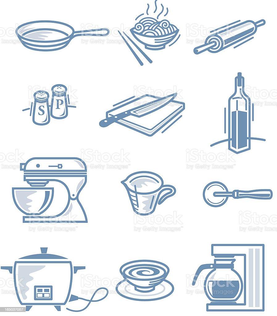 Little Kitchen stuff vector art illustration
