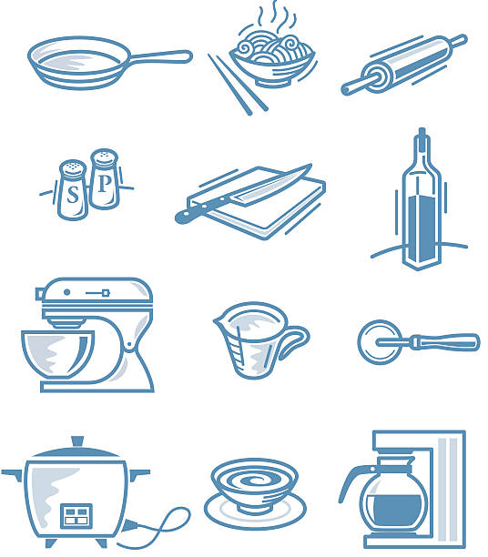 Little Kitchen stuff vector art illustration