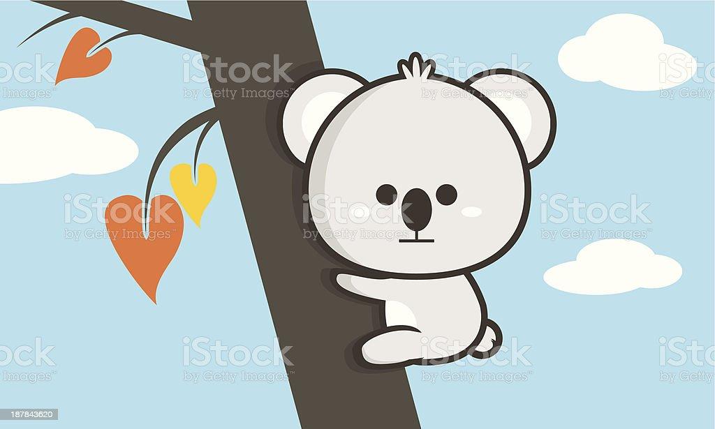 Little Koala royalty-free stock vector art