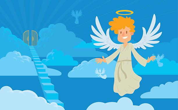 55 Cartoon Of Heaven Gates Illustrations & Clip Art - iStock