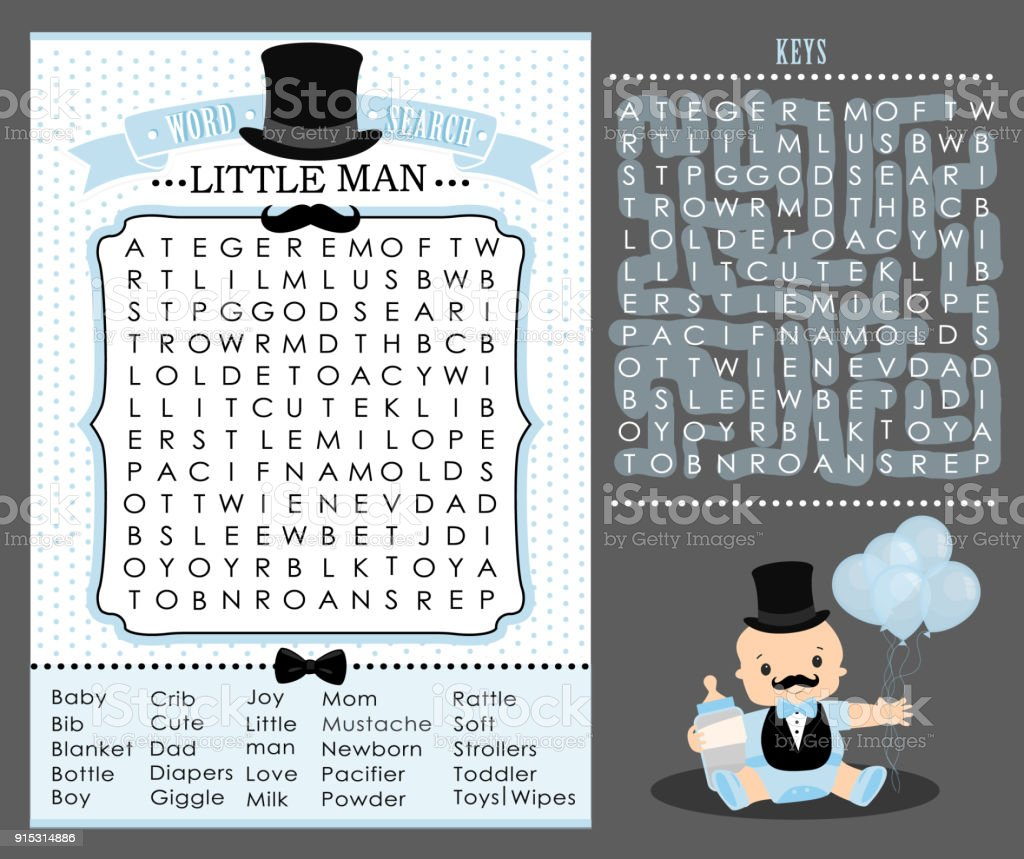 Magnificent Little Man Party Game Word Search Puzzle Vector Printable Download Free Architecture Designs Scobabritishbridgeorg