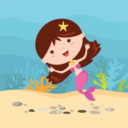 Little mermaid fun under the water