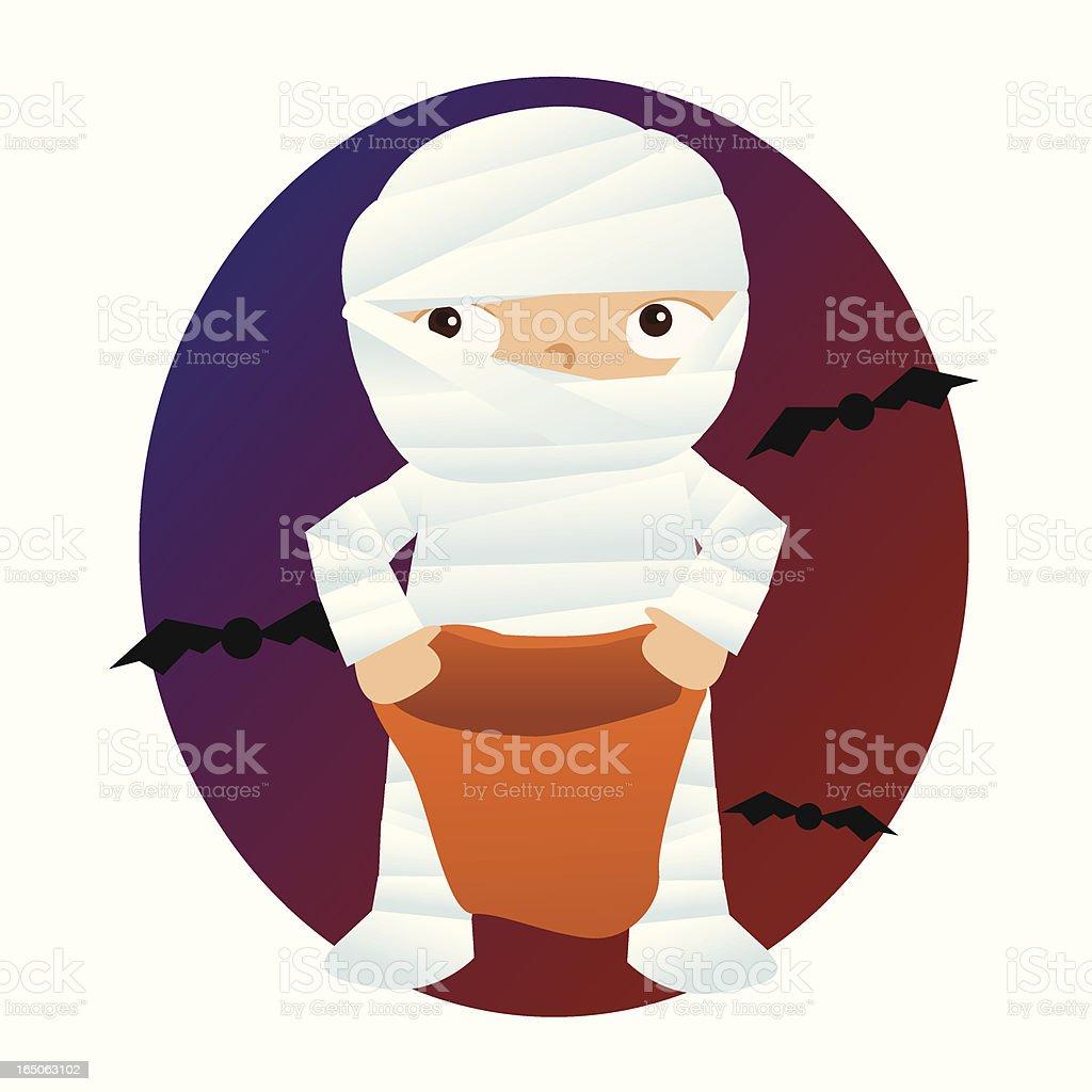 Little Mummy royalty-free stock vector art
