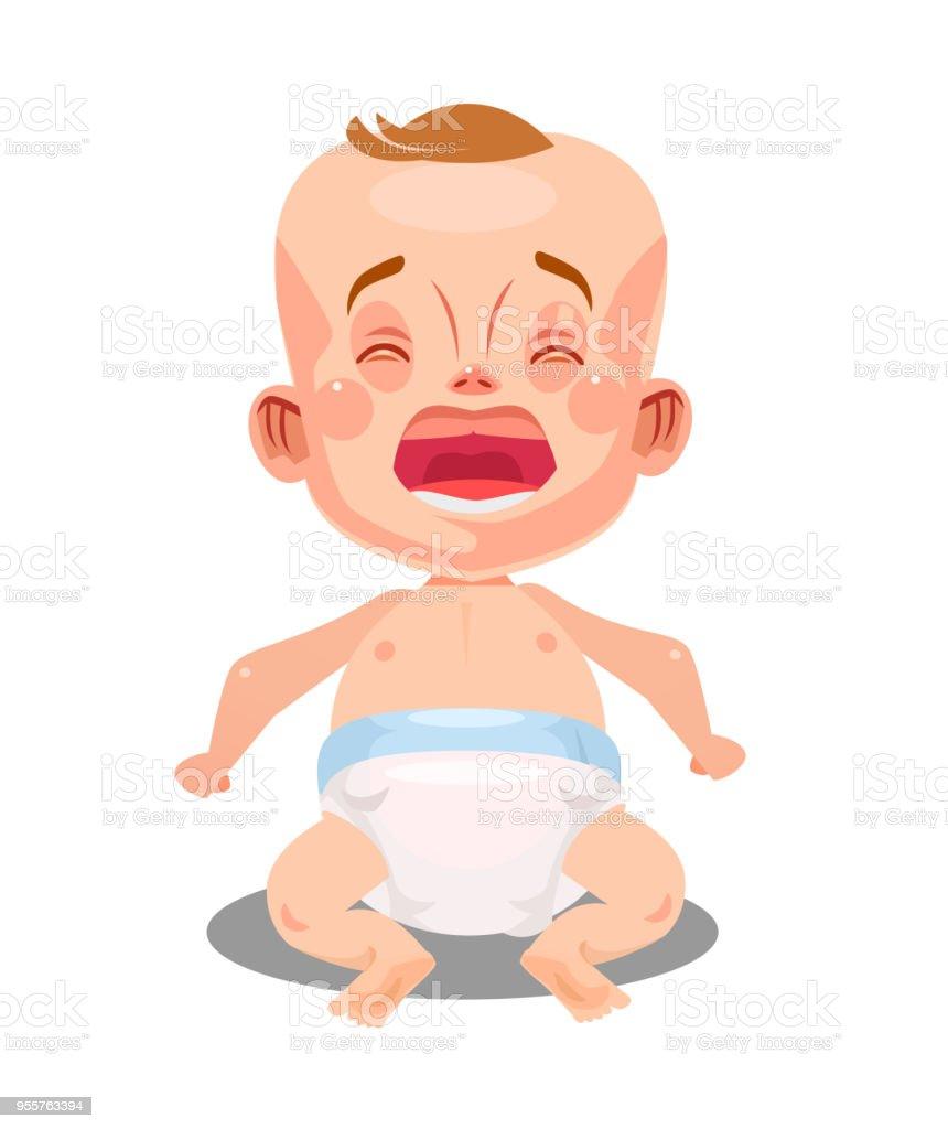 Ağlamak Ve çığlık Küçük Yeni Doğan Bebek çocuk çocuk Bebek Yeni
