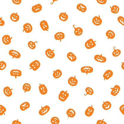 Little Orange Pumpkins White
