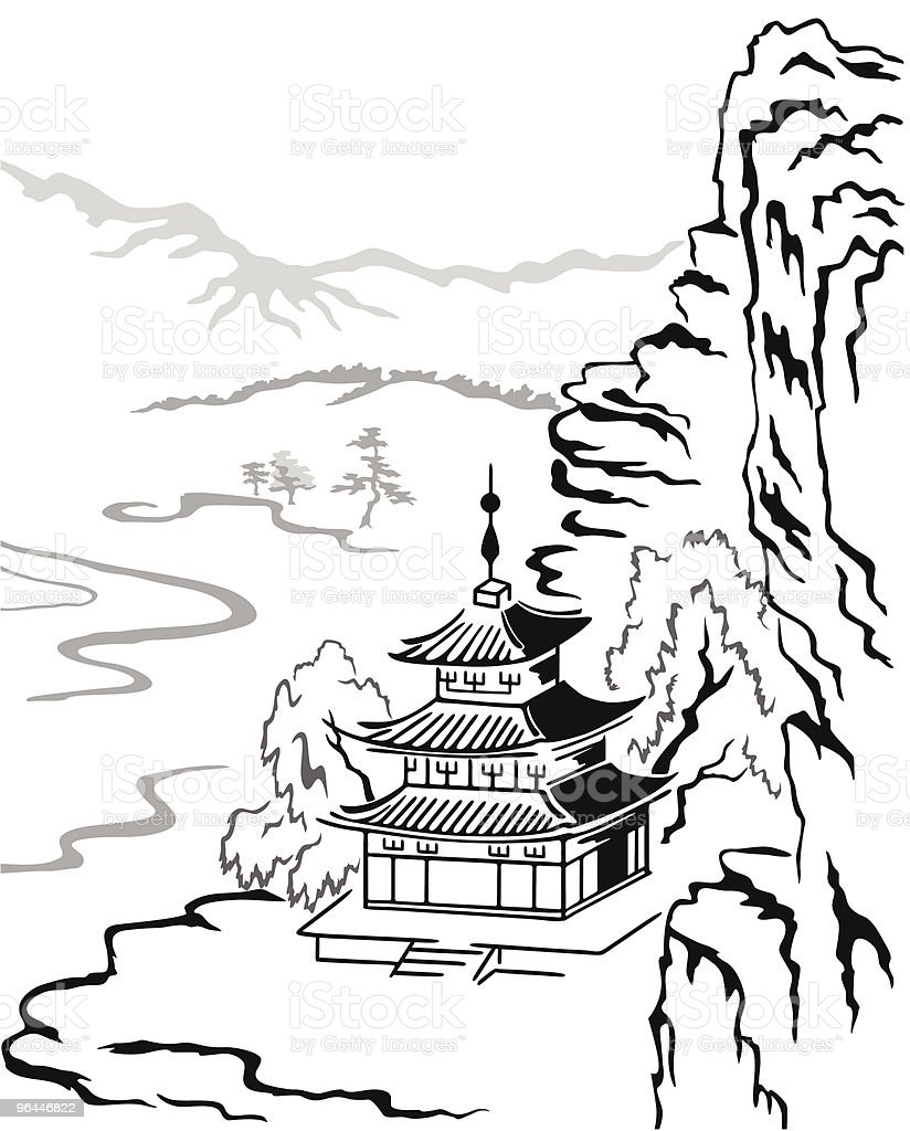 Little pagoda royalty-free stock vector art