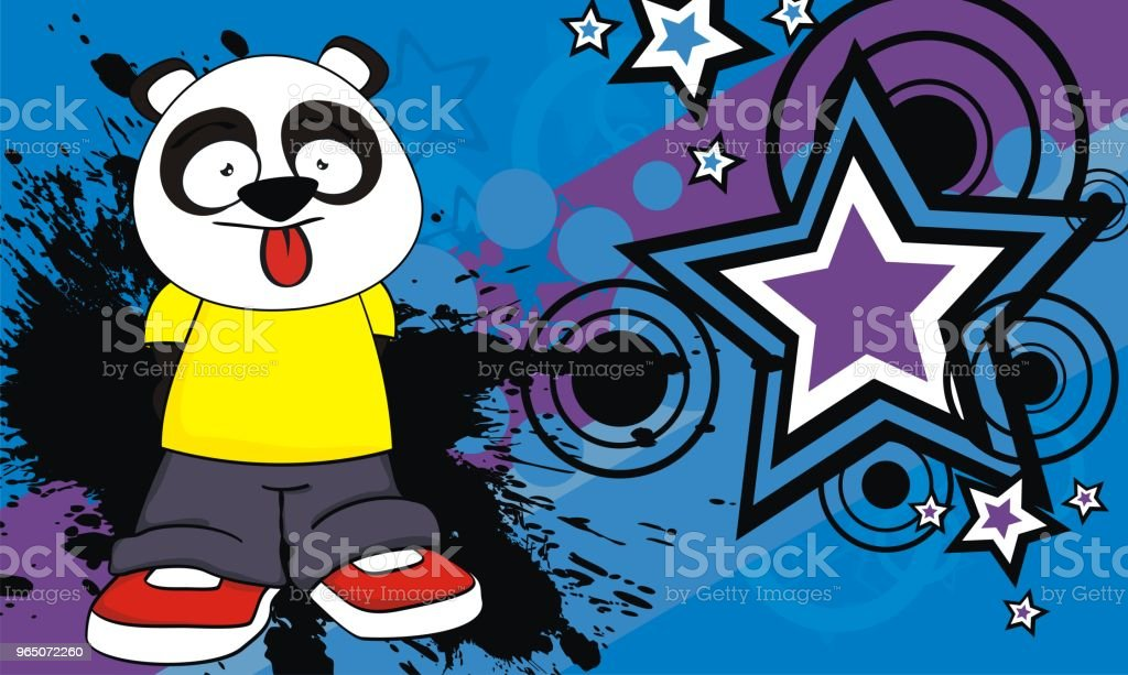 little panda bear kid cartoon expression background royalty-free little panda bear kid cartoon expression background stock vector art & more images of animal