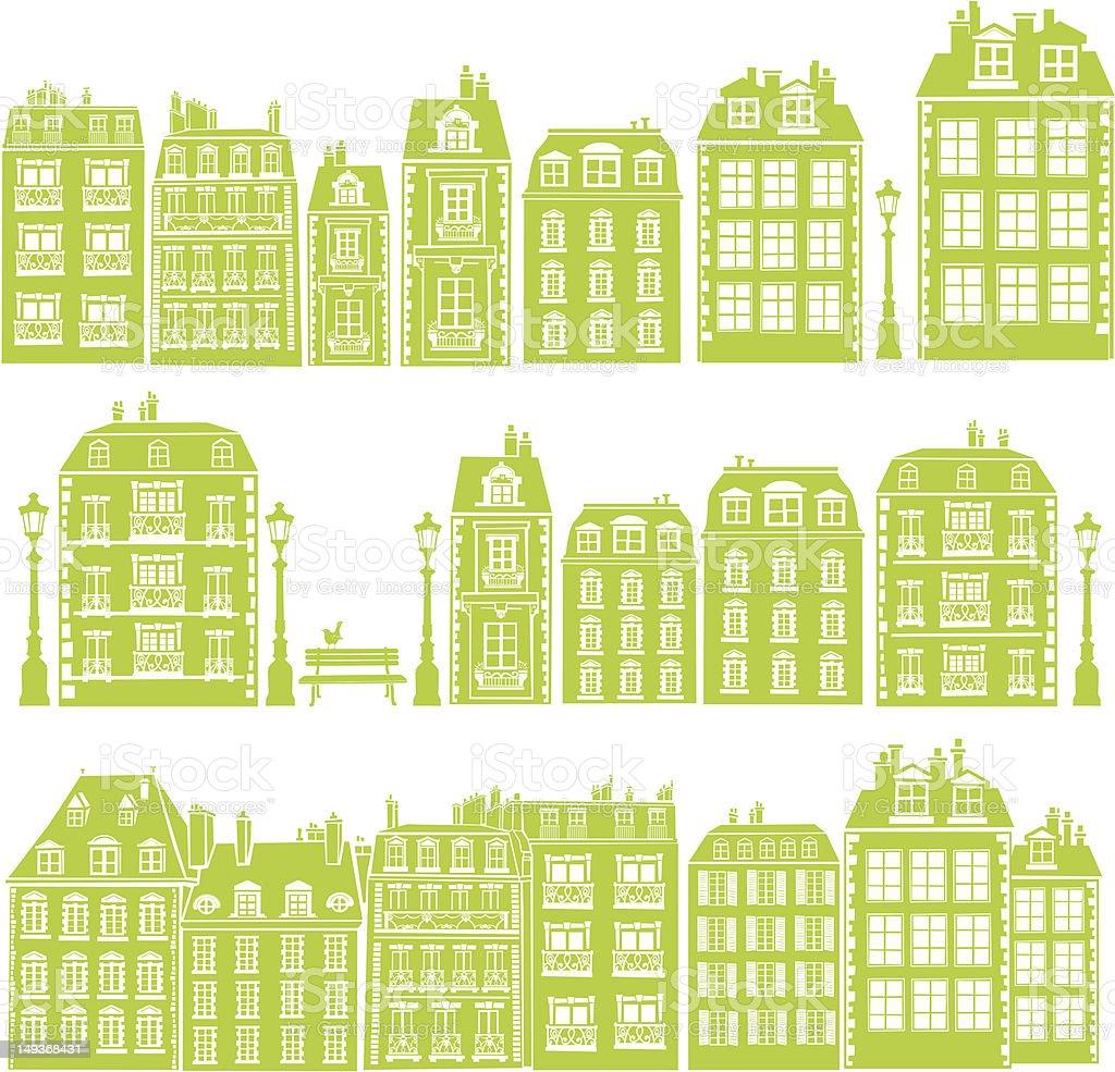 Little Paris vector art illustration