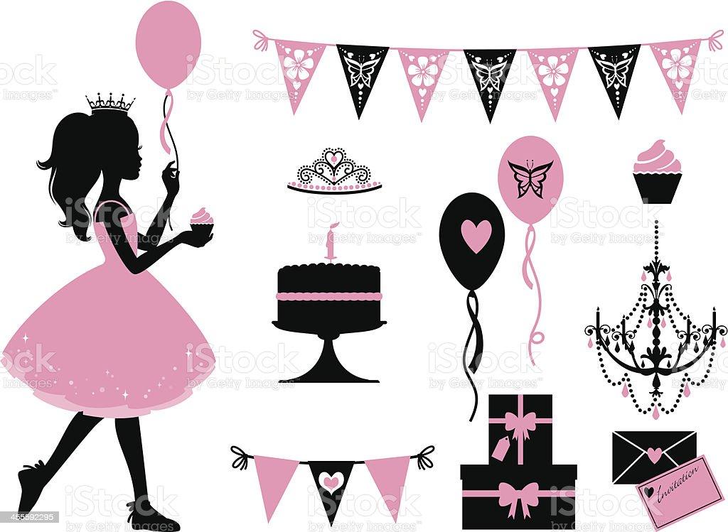 Kleine Party Princess – Vektorgrafik