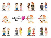little people funny lovers on valentines day holiday