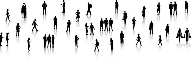 リトル・ピープル - 背景に人点のイラスト素材/クリップアート素材/マンガ素材/アイコン素材
