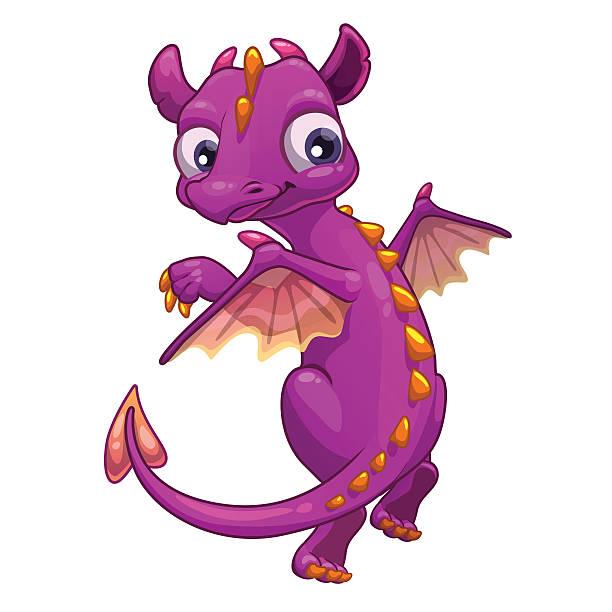 little pink cartoon dragon - dragon eye stock illustrations, clip art, cartoons, & icons
