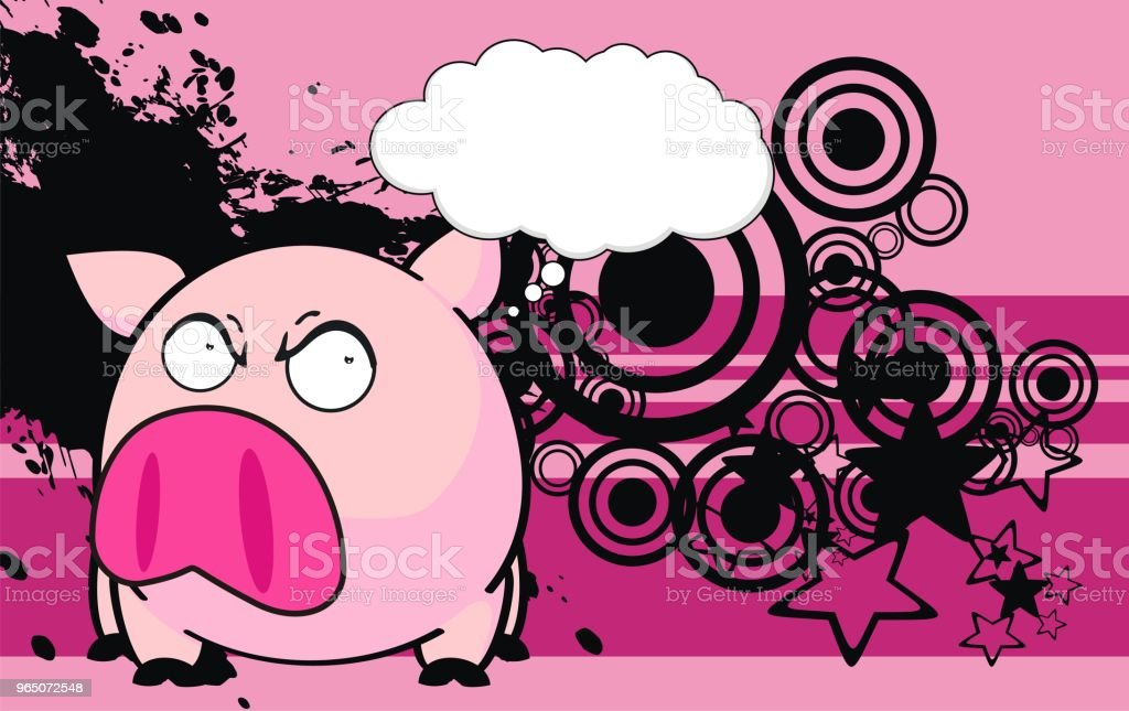 little pink pig ball cartoon expression background royalty-free little pink pig ball cartoon expression background stock vector art & more images of animal